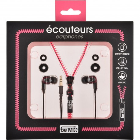 Ecouteurs intra-auriculaires filaires Zip Rose