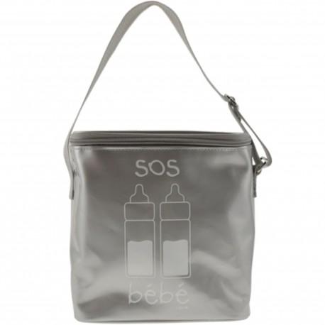 Glacière souple Lunch bag isotherme SOS Bébé Gris