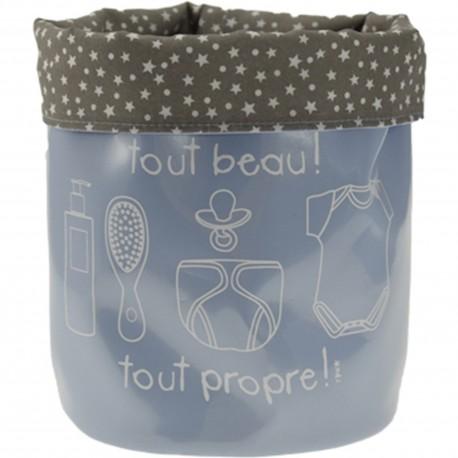 Panier rond souple de rangement Soins SOS Bébé Petit modèle Bleu pastel