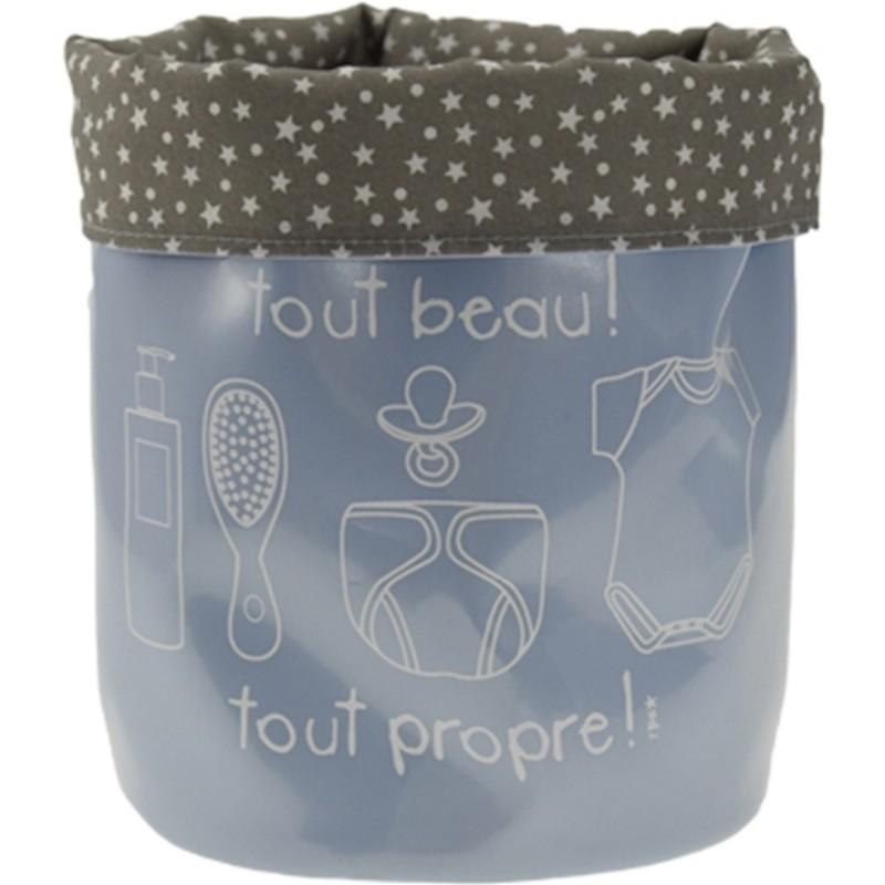panier souple de rangement sos b b petit mod le bleu pastel. Black Bedroom Furniture Sets. Home Design Ideas