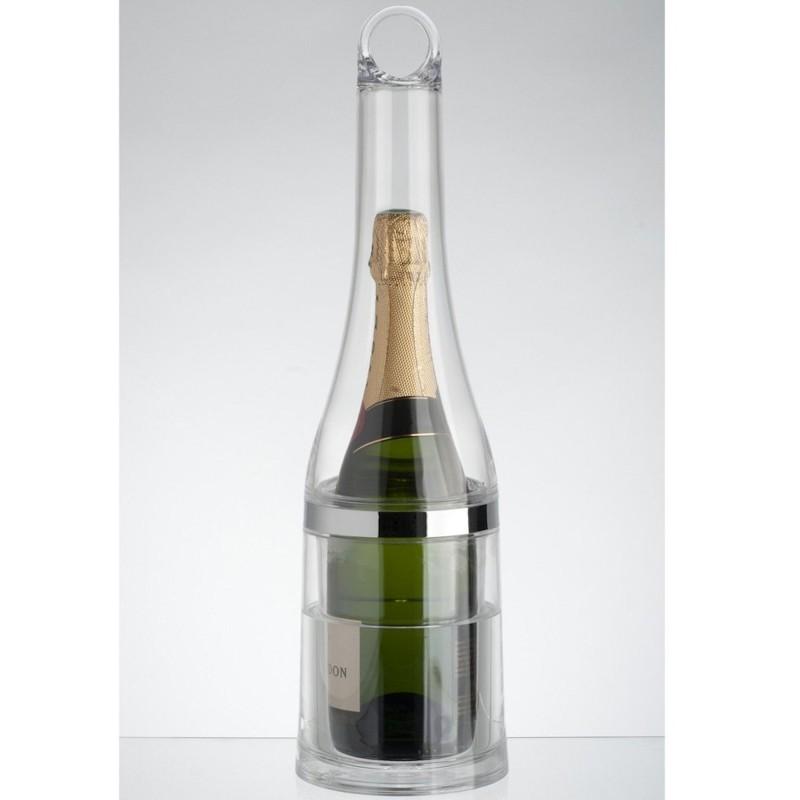 seau champagne bouteille transparent avec pince gla ons. Black Bedroom Furniture Sets. Home Design Ideas