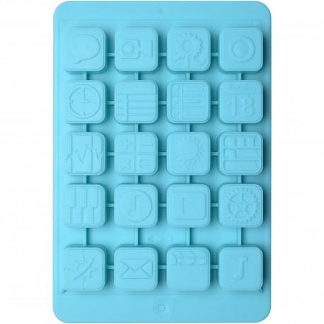 Moule à glaçons Tablette IcePad Bleu turquoise