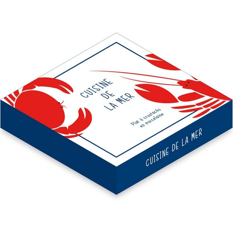 plat rond creux crustac s cuisine de la mer blanc. Black Bedroom Furniture Sets. Home Design Ideas