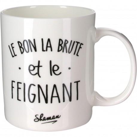 Mug Le bon la brute et le feignant Blanc