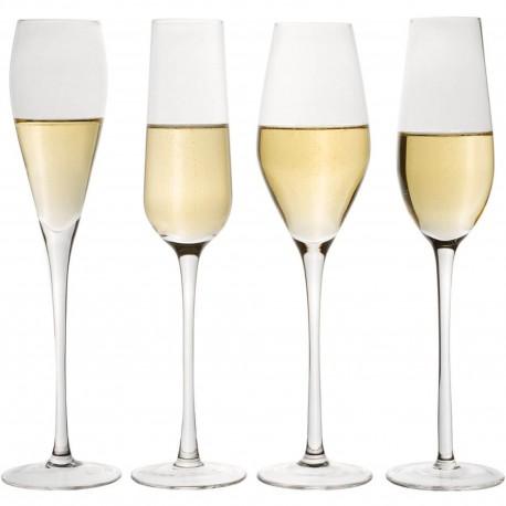 Flûtes à champagne Designs assortis Transparentes Set de 4