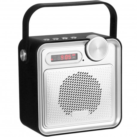 Radio Enceinte haut-parleur Bluetooth Rubber soft touch Noir