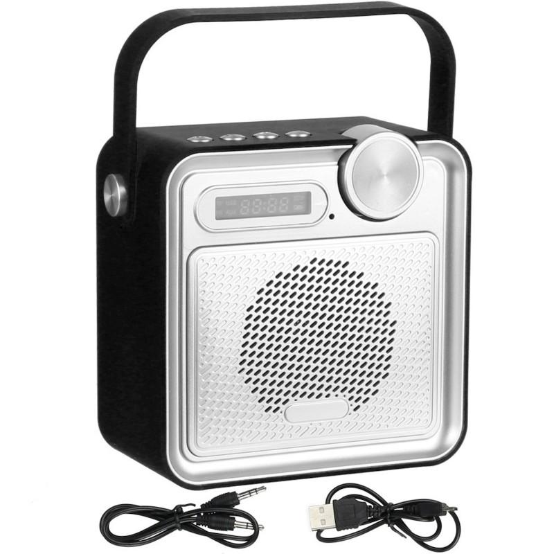 radio enceinte haut parleur bluetooth rubber soft touch noir. Black Bedroom Furniture Sets. Home Design Ideas