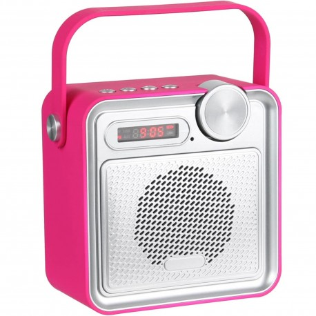 Radio Enceinte haut-parleur Bluetooth Rubber soft touch Rose