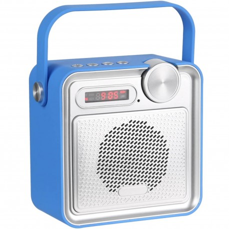 Radio Enceinte haut-parleur Bluetooth Rubber soft touch Bleu