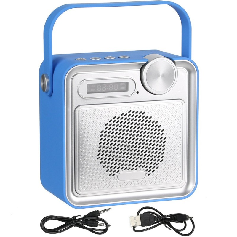 radio enceinte haut parleur bluetooth rubber soft touch bleu. Black Bedroom Furniture Sets. Home Design Ideas