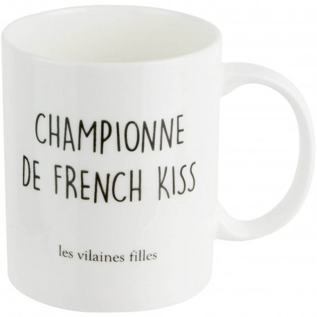 Mug Championne de french kiss Blanc