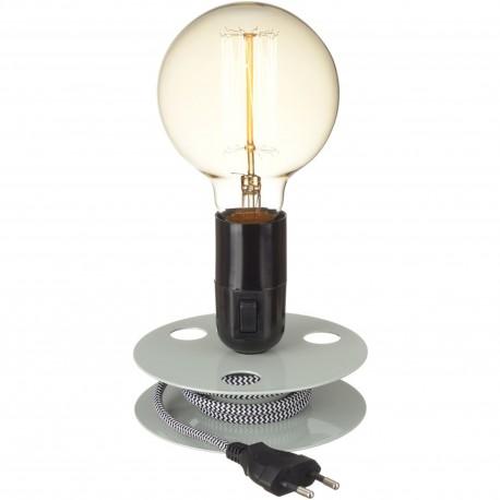 Lampe Ampoule Lames bois naturel Beige