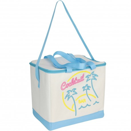 Glacière Lunch bag isotherme souple California cool Cocktail bar Bleu