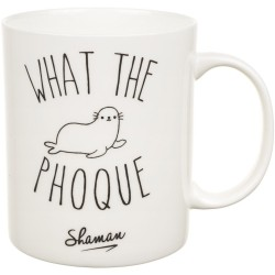 Mug What the phoque Blanc