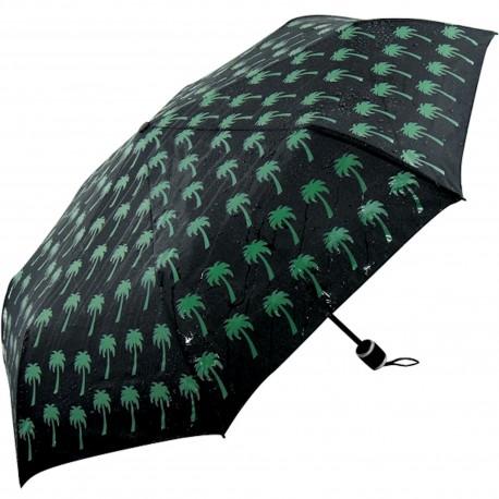 Parapluie pliant Couleurs changeantes Palmiers Noir