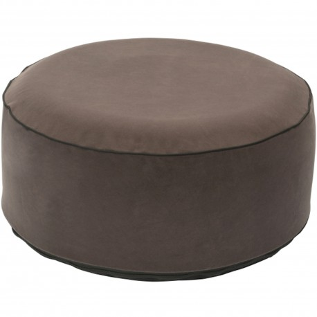 Pouf gonflable rond Velours Gris