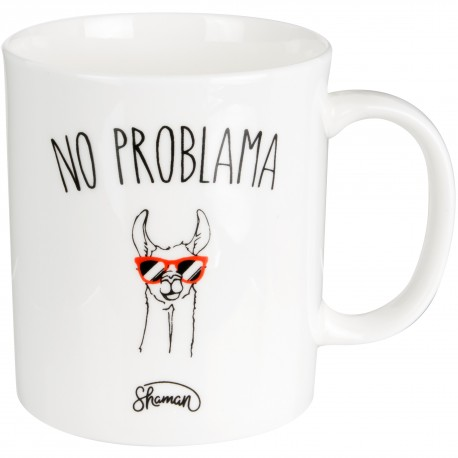 Mug No problama Blanc
