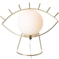 Lampe Oeil Golden eye Blanc et doré