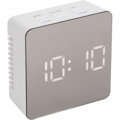 Réveil numérique miroir LED Square Blanc