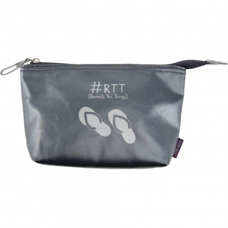 Trousse de toilette Colorama RTT Remets tes tongs Gris souris