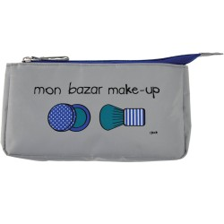 Trousse à maquillage Mon bazar make-up Gris et bleu