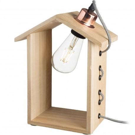 Lampe articulée Bonhomme bois Mister woody Rouge