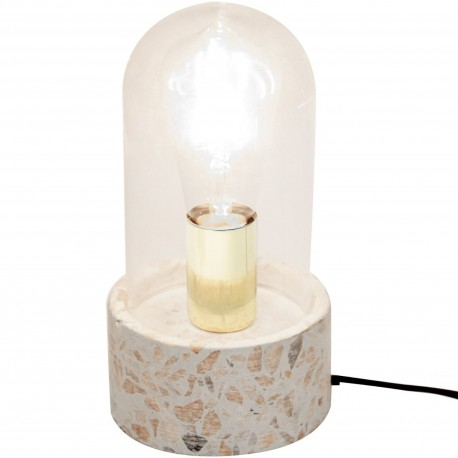 Lampe Globe transparent Terrazzo