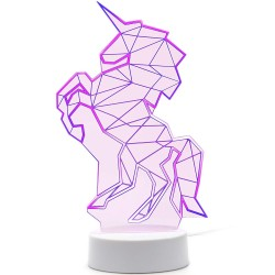 Lampe LED Licorne Rose