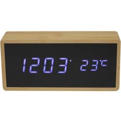 Réveil numérique LED Bambou Beige et noir Grand modèle
