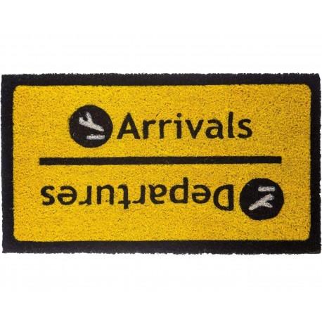 Paillasson rectangulaire Arrivals Departures Jaune et noir