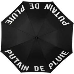 Parapluie Putain de pluie Noir et blanc