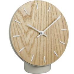 Horloge à poser Hygge Bois Beige et blanc
