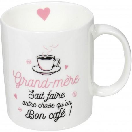 Mug Grand-mère sait faire autre qu'un bon café Blanc