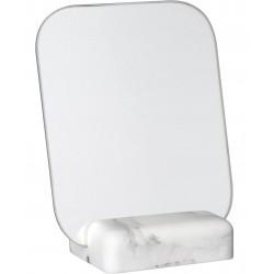 Miroir de table Carrare Rectangulaire Sur socle Façon marbre blanc