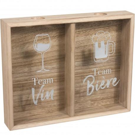 Cadre collectionneur Bouchon addict Bière et vin Bois Beige