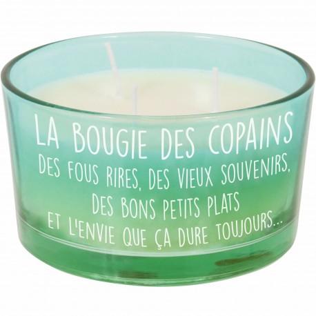Bougie parfumée des copains Pot Bleu turquoise et vert