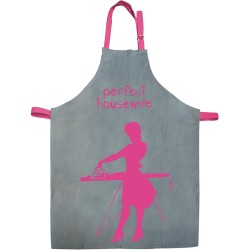 Tablier Femme Perfect housewife Gris et rose