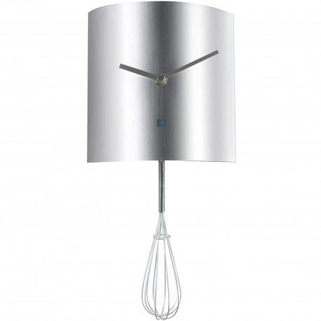 Horloge murale à balancier Fouet de cuisine Whisk pendulum Gris