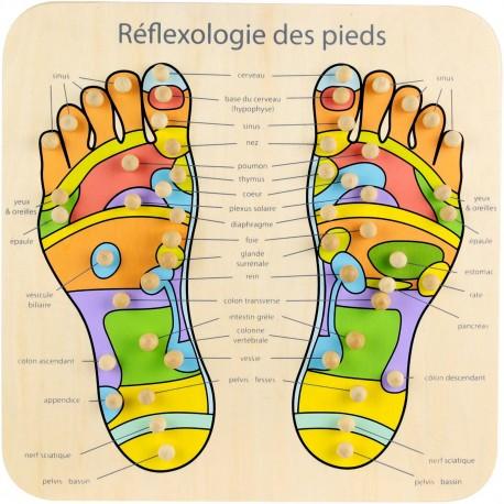Planche de réflexologie Massage des pieds Mr Yang Bois Beige et multicolore