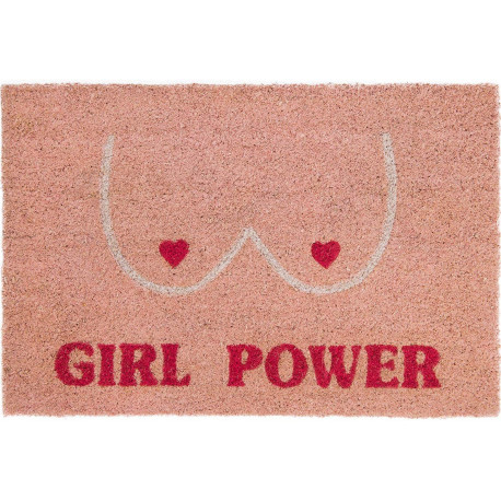 Paillasson rectangulaire Girl power Rose