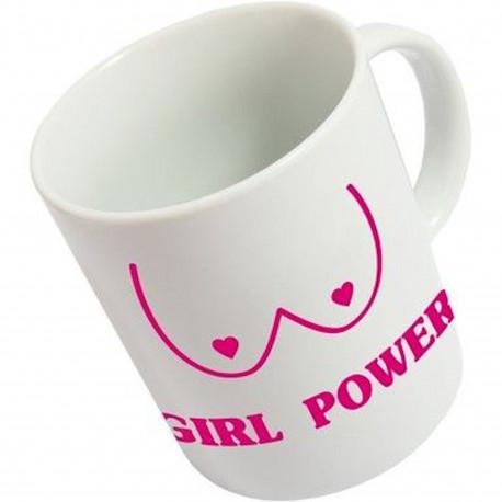 Mug Girl power Blanc et rose