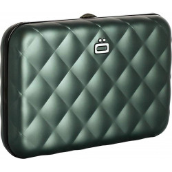 Porte-cartes Quilted Button Platinium