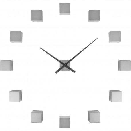 Horloge murale personnalisable DIY Do it yourself Cubic Gris