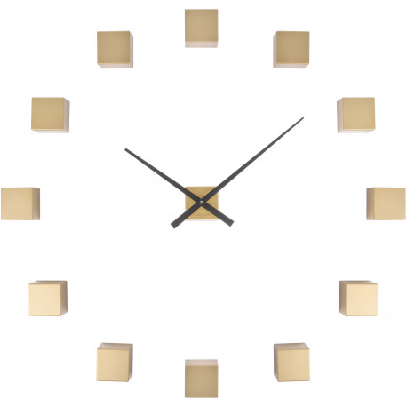 Horloge murale personnalisable DIY Do it yourself Cubic Doré