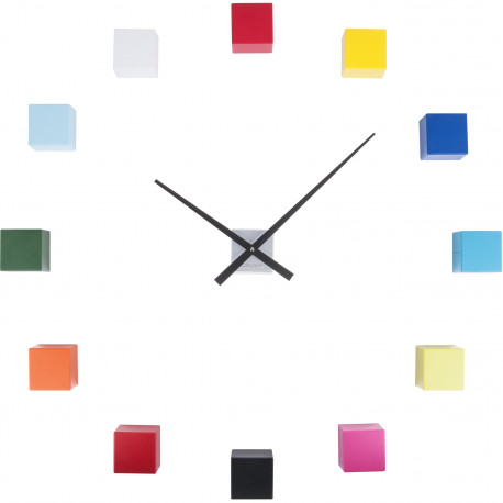 Horloge murale personnalisable DIY Do it yourself Cubic Multicolore