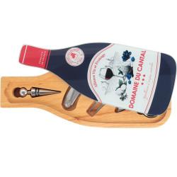 Coffret vin et fromage Stop-gouttes bouchon tire-bouchon fourchette couteau