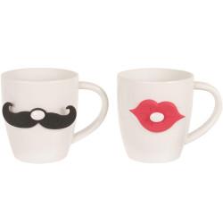 Mug et Infuseur à thé Gentleman Blanc