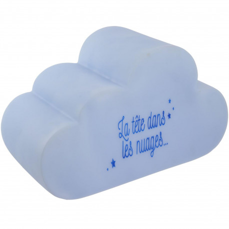Lampe veilleuse LED Enfant Nuage La tête dans les nuages Bleu