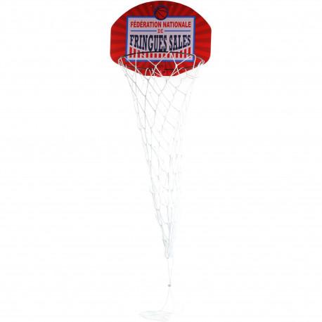 Panier à linge Panier de basket Patère de porte Fédération nationale de fringues sales Blanc et rouge