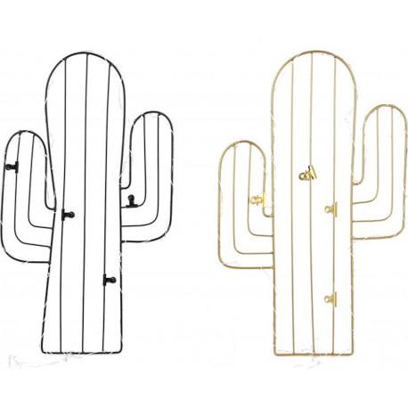 Pêle-mêle mémo photos LED Cactus Avec 4 pinces clips Doré ou Noir (MA)